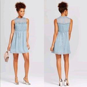 NWT XHILARATION Women's Lurex Ruffle Dress XL